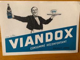 2 BUVARDS VIANDOX - Alimentos