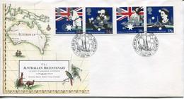 Great Britain Mi# 1151-4 FDC - Australian Bicentenary - FDC
