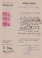 92-T.F  Série Unifiée N°118 & 137  Commissariat De Police Neuilly-sur-Seine 1949 - Steuermarken