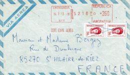 1973 - Affranchissement Mécanique  + 2 Tp Gal San Martin N°935 Pour Envoi Exprès Poste Aérienne - Argentinien