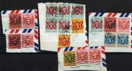 1982 - Reine Elizabeth II - Timbres De La Série N° Yvert 382 à 393 Sur Fragment De Lettre - Hong Kong (...-1997)
