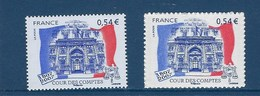 """FR YT 4028 & 4028A """" Cour Des Comptes """" 2007 Neuf** - France"""