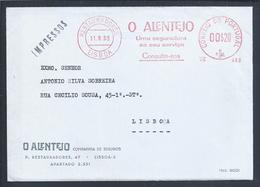 Rara Flâmula 'O Alentejo', Companhia Seguros. Carta Dos Seguros 'O Alentejo' 1965. Insurance Letter 'O Alentejo'. - 1910-... République