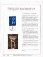 Exemplaire N°001 Feuillet Tirage Limité 500 Exemplaires Frappe Or Fin 23 Carats 2204 Fondation Roi Baudouin - Panes