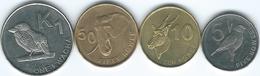 Zambia - 2012 - 5 (KM206), 10 (KM207) & 50 Ngwee (KM208) & 1 Kwacha (KM209) - Zambia