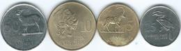 Zambia - 1992 - 25 Ngwee (KM29) 50 Ngwee (KM30) 5 Kwacha (KM31) & 5 Kwacha (KM32) - Zambia