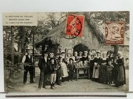 44 - NANTES - SOUVENIR DU VILLAGE BRETON (JUILLET 1910) - EN VOULEZ VOUS DES HOMARDS! - ANIMÉE - ENFANTS COSTUMES - 1910 - Nantes