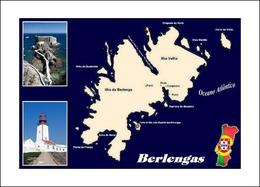 Berlengas Islands Map Portugal New Postcard Landkarte AK - Other