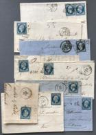 France, N°14 - Lot De 8 Lettres - (W1519) - 1849-1876: Période Classique