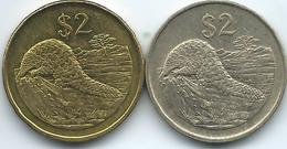 Zimbabwe - 2 Dollars - 1997 (KM12) & 2002 (KM12a) - Zaire (1971-97)
