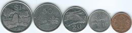 Zimbabwe - 1 (1991 - KM1a) 10 (2001 - KM3a) 20 (2002 - KM4a) & 50 Cents (2002 - KM5a); 1 Dollar (2002 KM6a) - Zimbabwe