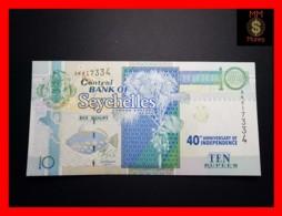 SEYCHELLES 10 Rupees 2016  P. 52 *COMMEMORATIVE* 40th   UNC - Seychellen