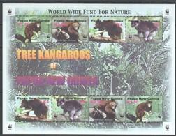 H438 PAPUA NEW GUINEA WWF WILD ANIMALS TREE KANGAROOS MICHEL 14 EURO KB MNH - W.W.F.