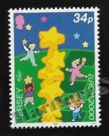Jersey 2000 Yvert 922, Europa 2000. Children & European Golden Stars - MNH - Jersey