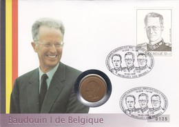 2 Scans Enveloppe Numérotée 2739 Roi Baudoin Ier Pièce 20 Francs Belges - Numisletters