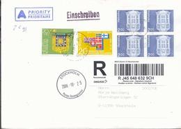 Suiza Año 2006   Sobre Prioritario Circulado  A Suecia Matasellos  Varios - Cartas