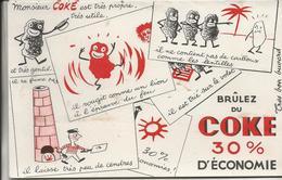 LOT DE 5 BUVARDS ILLUSTRES -MONSIEUR COKE -BRULEZ DU COKE - Blotters