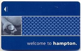 Hampton Inn Hotels, U.S.A., Used Magnetic Hotel Room Key Card # Hi-137 - Cartas De Hotels