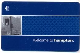 Hampton Inn Hotels, U.S.A., Used Magnetic Hotel Room Key Card # Hi-139 - Cartas De Hotels