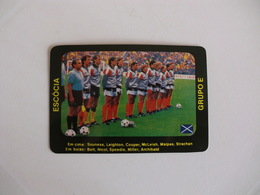 Football Futebol World Cup México 86 Scotland Portugal Portuguese Pocket Calendar 1987 - Calendriers