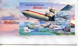 Cocos Keeling Islands Mi# Bl 21 FDC - Aviation Airplanes - Kokosinseln (Keeling Islands)