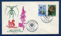 Luxembourg - FDC - Premier Jour - Année Européenne De La Conservation De La Nature - 1970 - FDC
