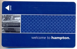 Hampton Inn Hotels, U.S.A., Used Magnetic Hotel Room Key Card # Hi-173 - Cartas De Hotels