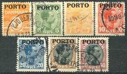 DANEMARK -  Y&T  N° 1-7 (o) - Port Dû (Taxe)