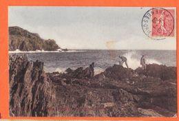 X83302 Rare Edition Colorisés Ile De PORQUEROLLES 83-Var Rochers Du PORT-FAY Langoustiers 1908 à BOUTET -FIGUIERES - Porquerolles