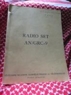 """Livre""""RADIO SET AN/GRC-9""""Année 1953""""Télécommunications Radioélectriques Et Téléphoniques""""Paris""""livre En Anglais - Unclassified"""