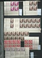 Maroc ; Petit Lot De Timbres ** En Blocs Dont 40 Coins Datés. Cote 370€ - Marokko (1891-1956)