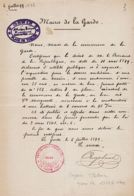 X83069 LA GARDE Var Maire BLANC 06.07.1899 Déclaration Utilité Publique Terrain Construction Batterie 6 CANONS - Documents