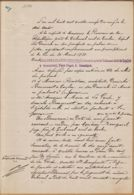 X83071 LA GARDE Var Maire BLANC 27.07.1899 SOMMATION à ROUSTAN Propriétaire Parcelle à Expatrier (2) - Decreti & Leggi