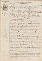 X83077 Mairie LA GARDE Var 01.08.1857 PROCES VERBAL EXPERTISE Réquisition Parcelle Charles GINOUX - Manoscritti