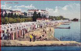 Crikvenica * Plaže, Strandbad, Molo, Leute * Kroatien * AK2492 - Croazia
