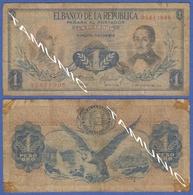COLOMBIA 1 Peso 1973  BOLIVAR & SANTANDER - ANDEAN CONDOR - Kolumbien
