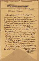 X83122 Mairie Du PRADET Var 21.06.1916 à Maire LA GARDE Sinistre  CHAPELLE Par Exploitation Carrières LAFFAY - Altri Comuni