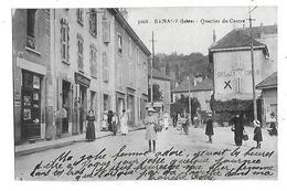 38  - CPA  De  RENAGE  - Café  Du  Centre  GONDRAN  ,  Café  Des  Cyclistes  ,  Quartier  Du  Centre  (  Très  Très  Ani - Renage