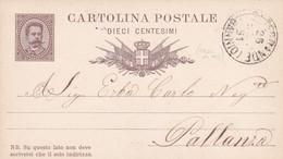 ITALIA - REGNO - BANNIO (VERBANIA) - INTERO POSTALE  CON RISPOSTA PAGATA 15 C. - VIAGGIATO PER  PALLANZA( VERBANIA) - Entero Postal