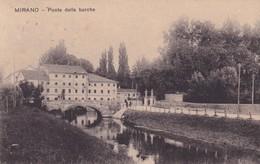 Cartolina Mirano (Venezia) - Ponte Delle Barche. 1924 - Venezia (Venice)