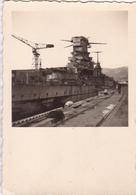 PHOTO ORIGINALE 39 / 45 WW2 WEHRMACHT FRANCE TOULON 1943 VUE SUR LA FLOTTE FRANCAISE - Guerre, Militaire