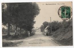 CPA 80 - HARBONNIERES (Somme) -3. Rue Du Bois - Ed. Derivière-Pommier (petite Animation, Attelage) - Other Municipalities