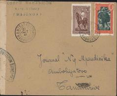 YT 218 + 165 Madagascar CAD Antsakabary 31 OCT 41 Censure Bande + Cachet Contrôle Postal Commission G - Madagascar (1889-1960)