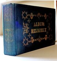 ALBUM RELIGIEUX.....20 PAGES  TRANCHES DORÉES...... POUR 80 IMAGES PIEUSES ( Il Y En A 76 ) - Images Religieuses