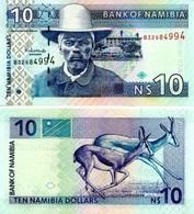 NAMIBIA 10 Namibia Dollars ND ( 2001 ) P 4 C UNC - Namibie