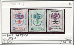 Saudi Arabien - Saudi Arabia - Michel 127-129 - ** Mnh Neuf Postfris - Malaria - Arabia Saudita