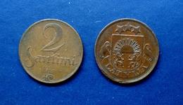 1922 COIN LATVIA , LETTLAND , LETTONIA 2 SANTIMU - KM#2 - Latvia