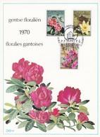 Feuillet 1523 à 1525 Fleurs Floralies Gantoises - Panes