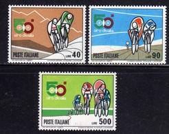 ITALIA  REPUBBLICA ITALY REPUBLIC 1967 CICLISMO 50° GIRO CICLISTICO D'ITALIA SERIE COMPLETA COMPLETE SET MNH - 6. 1946-.. Republic