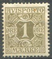 DANEMARK -  JOURNAUX  Y&T  N° 1 * - 1905-12 (Frederik VIII)